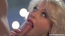 Blonde MILF Sucks Cock Dry