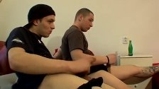 Hairy legs gay men first time Sticky