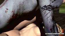 3D Babe Licked and Fucked by a Zombie