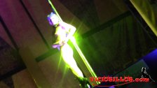 Public hot pole dancer in erotic festival
