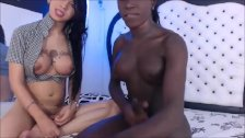 Black tranny fucks her lover
