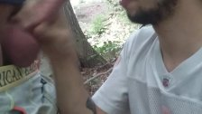 Phillip Sparks sucking dick in the woods 3