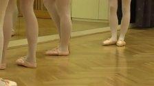 Blonde and brunette gangbang Hot ballet