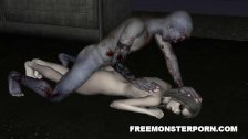 Sexy 3D Zombie Babe Licked and Fucked