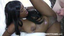 Ebony teen get a hard pussy pounding