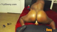 Cute chocolate young girl with clapping ass