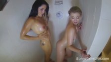 Sunny Lane Gets Wet with Cleo