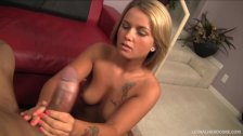 Teen Kylee Nicole handjob to huge BBC