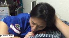 My Asian Gf Dewi 19 chokes in my cum