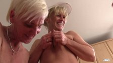 XXXOmas - German grannies fuck in a foursome