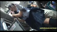 Jav Schoolgirl Ambushed On Public Bus Fucked