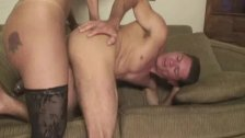 Horny Shemale Gets Bareback Fuck and Good Suc