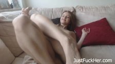 My Sweet Blonde Teen Girlfriend Masturbates