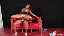 Latina Lesbians testing sex toys live