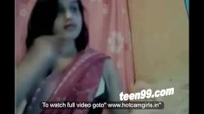 Indian housewife showing boobs over webcam