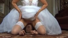 Facesitting-bride Upskirt 2