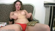 Tranny with plump shecock posing gets messy w