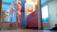 Friends husband in shower