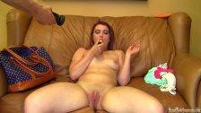 18 yearold Lacie masturbates on casting couch