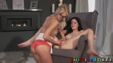 Girlfriends Skinny lesbians intimate lust