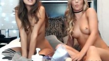 Two chicks blonde and brunette have anal fun