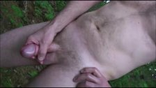 Big ShroomHead Cum Show In The Park