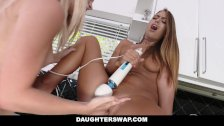 DaughterSwap- hot lesbian teens mess around before dads get home