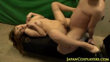 Bigtitted japanese babe pussypounded after bj
