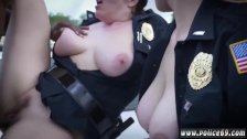 Lesbian police fuck and fake cop busty We