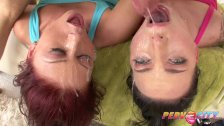 PervCity Two Sluts Swallow Mike Adriano's Big Cock