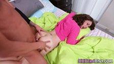 Horny teen gets railed