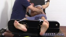Leg up front of black cock tube gay Chase
