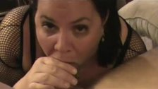 BBW Brunette Blowjob And Pussy Fuck