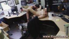 Old gay man sucks black cock swallowing cum