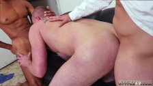 Young boy eating old gay man cum and black