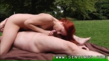 Old young outdoor and old asian granny anal