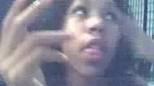 Ebony Girl Shows off on Webcam