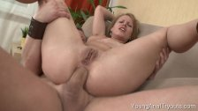 Jacklyn takes a hard anal pounding