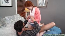Screaming young teen amateur Dolly Little
