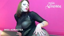 Miss Adrastea black seamed Pantyhose