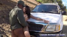 3 cops oil first time Latina Babe Fucked By