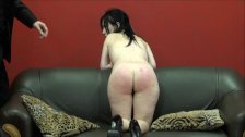 Spanked amateur slaves brutal blowjob and rough whipping of oral submissive
