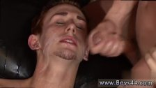 Nude boy in bondage to cum tube gay first