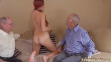 Old man fucks young guy and sexy old lady