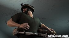 3D soldier takes black cock in his ass