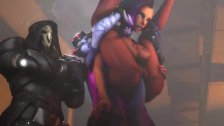 Sombra and WidowMaker in Overwatch have sex