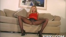 Kinky teaser in sexy pantyhose