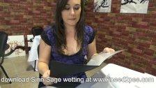 Sinn Sage pornstar peeing her panties pants 2016