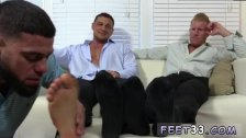 Black gay foot suckers tube first time