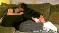 Emo boy sock job gay Tristan has clearly